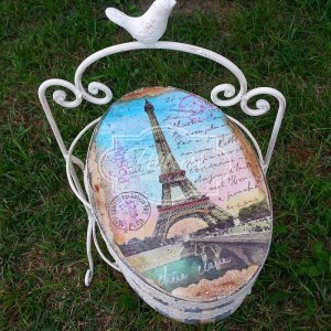 Duże Pudełko Paris Szkatułka Paryż Retro