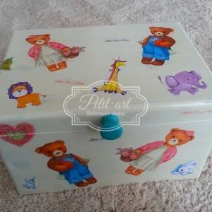 Duża Skrzynia Kufer dla Dzieci