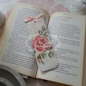 Drewniana zakładka do książki róże