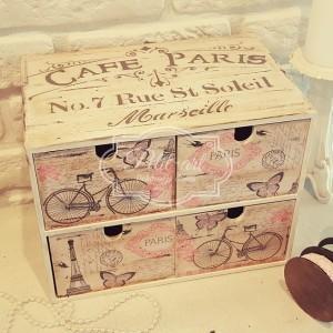 Cafe Paris Komódka 4 szuflady