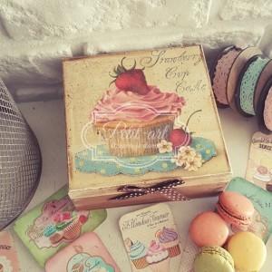 Pudełko Muffinka vintage 01