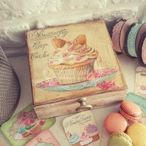 Pudełko Muffinka vintage 02