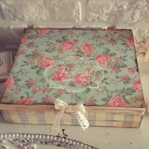 Wielka Szkatułka Róże Vintage