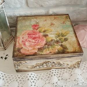 Róża... Reliefy.... duża szkatułka