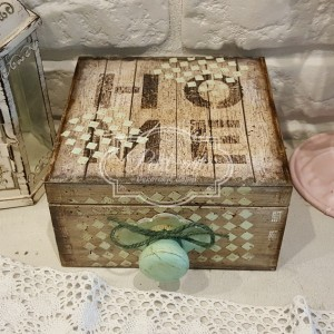 HOME duża szkatułka herbaciarka