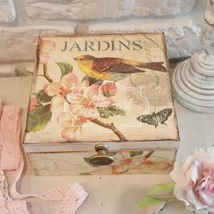 102 Ptaszek Kwiaty Jardins Pudełko