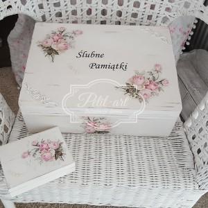 114 Ślub skrzynia + pudełko na obrączki, ślubne dodatki