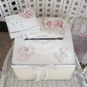 115 Ślub Skrzynia na telegramy koperty + pudełko na obrączki
