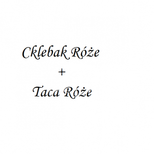 Komplet Chlebak i Taca Róże