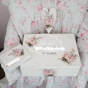 118 Ślub Skrzynia + pudełko na obrączki, ślubne dodatki, kufer