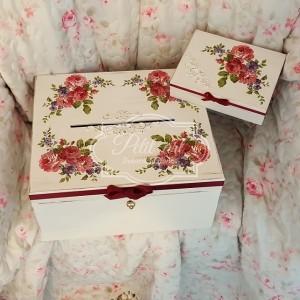 120 Ślubna skrzynia + pudełko na obrączki Róże, Ślub, Ślubne dodatki