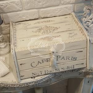 131 Piękny stylowy Chlebak Cafe Paris 2