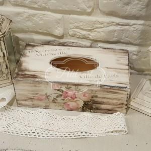 149 Chustecznik postarzany róże i napisy