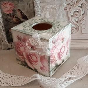 155 Róże chustecznik , koronka shabby chic