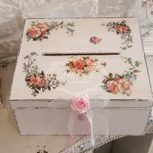 178 Ślubna Skrzynia na koperty z otworem