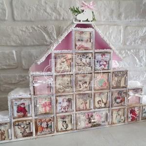 234 Piękny Kalendarz Adwentowy Shabby Chic