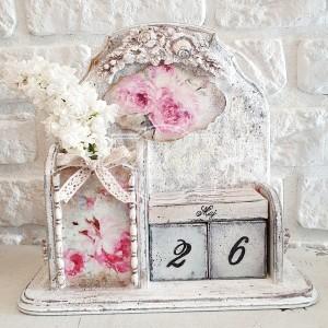 267 Wieczny Kalendarz Róże shabby chic #DzieńMatki