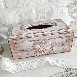 281 Stylowy Chustecznik róża pudełko na chusteczki retro