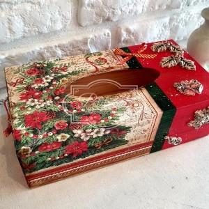 299 Świąteczny chustecznik, pudełko na chusteczki, prezent