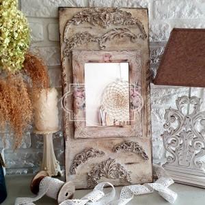 308 Duży panel dekoracyjny lustro, róże, shabby chic, dekory