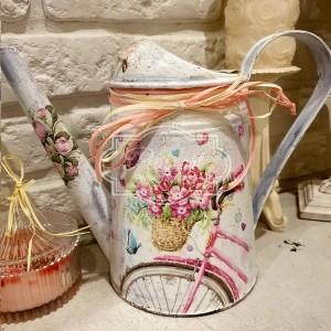316 Konewka Rower z kwiatami wazon kwiaty wiosna