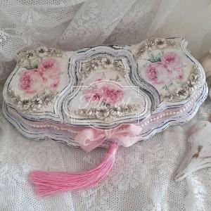 329 Piękna Szkatułka róże Shabby chic jedyna niepowtarzalna