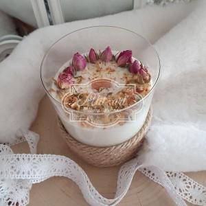 330 Świeca Naturalna Sojowa z suszonymi różami