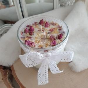 331 Świeca Naturalna Sojowa z suszonymi różami