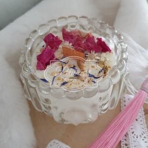 339 Świeca Naturalna Sojowa z suszonymi kwiatami