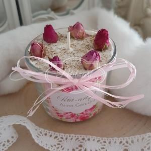 343 Świeca Naturalna Sojowa z różami